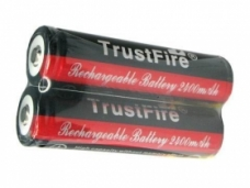 TrustFire TF18650 2400mAh 3.7V Protected Li-ion Battery JT-V1 (2-Pack)