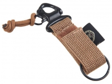 Versatile Tactical Durable Nylon Military Style Belt Key Holder with Key Ring