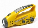 ZY-288CS Crank Dynamo Solar Flashlight with Mobilephone Charger and AM&FM Radio