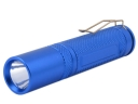 1W Mini Flashlight Light Torch with Clip-Blue