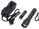 SZOBM ZY-1200 CREE XM-L T6 LED Focus Flashlight with Battery and Charger