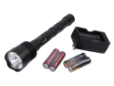 TrustFire TR-3T6 3800 Lum 3x CREE XM-L T6 LED Flashlight with Battery and Charger