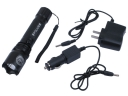 Police 3W LED Rechargeable Flashlight + 2*Charger Set