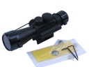 4x 30mm Red and Green Illuminated Reticle Rifle Scope with 30mW Red Laser (M7)