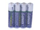 4 Pcs AAA R03P UM-4 1.5V Disposable Batteries