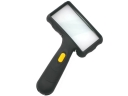 Portable Two-LED Rectangular Oblique-Handle Magnifier