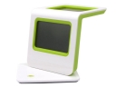 AQ-33 LCD Thermometer Calendar Solar & Battery Dual Power Alarm Clock