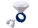 Diamond Ring Shaped USB LED Valentine Ring Lamp