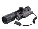 1MW 3-10 Times The Rail Sights / 3-10X42 Red Laser + LED