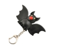 Black Bat White Lights LED  Keychain