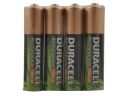 4 x Duracell AAA / HR03 / DC2400 / NiMH / 1.2V 750 mAh Rechargeable   Batteries