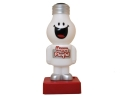 Wholesale Cute Laughing Face Filament lamp Shape White Plastic Desk Lamp with Retail box