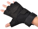 Fashion BLACKHAWK! Black Color M/L/XL Size Leather Half-Finger Sport Glove
