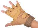 BLACKHAWK! Desert yellow composite material Outdoor Half-finger safeguard sport gloves