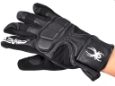 Spider Print Black Color Outdoor Sport Leather Full-finger gloves