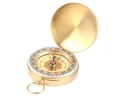 Portable Gold Color Pocket Watch Style Compass