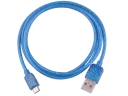 V8 Radium Rays 1.5M 3.5mm USB Charge Sync Cable For Samsung Galaxy S2/S3/S4 and HTC Smart Phone