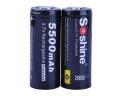 Soshine 26650 3.7V 5500mAh Rechargeable Li-ion Protected Battery (1 Pair)