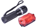 BAILONG CREE Q5 LED 150Lm 3 Mode LED Flashligth Torch+7 Mode Red Llight LED Bicycle Safety Tail Light
