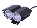 2*CREE T6 LED 1800 Lumens 4 Mode USB interface to charge LED Bicycle Headlight