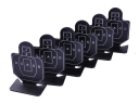 Aluminum Alloy Rectangle Shaped Shooting Practice Targets for BB Gun - Black (6 PCS)