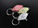 Plasitc LED Keychain Promotional Gift 20000mcd White light Mini LED Flashlight Keychain with insulation sheet