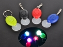 Plastic LED Keychain Promotional Gift 7 colors lighting Fest...