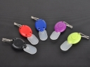 Promotional Gift LED Keychain Plastic LED 7 Colors light Mini LED Keychain with Diffuser Cap