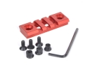 3 Slots Aluminum Alloy Electroplated Red hollow out 21mm Gun Mount Rail Weaver